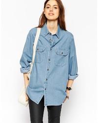 Chemise en jean bleue Asos
