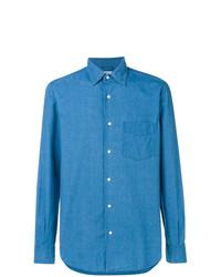 Chemise en jean bleue Aspesi