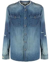 Chemise en jean bleue Balmain