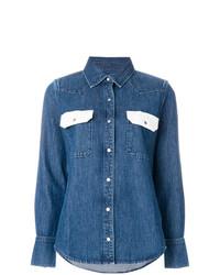 Chemise en jean bleue Calvin Klein Jeans