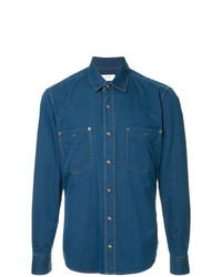 Chemise en jean bleue Cerruti 1881