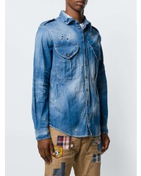 Chemise en jean bleue DSQUARED2