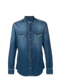 Chemise en jean bleue Dolce & Gabbana