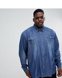 Chemise en jean bleue Duke