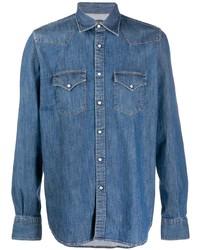 Chemise en jean bleue Eleventy