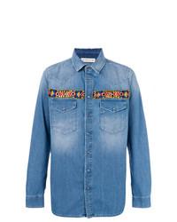 Chemise en jean bleue Etro