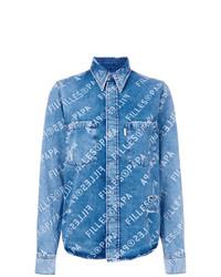 Chemise en jean bleue Filles a papa