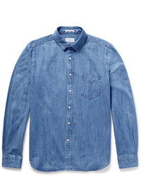 Chemise en jean bleue Gant