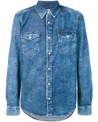 Chemise en jean bleue Givenchy