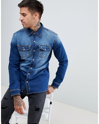 Chemise en jean bleue Good For Nothing