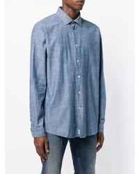 Chemise en jean bleue Barbour