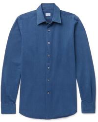 Chemise en jean bleue Incotex