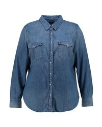 Chemise en jean bleue