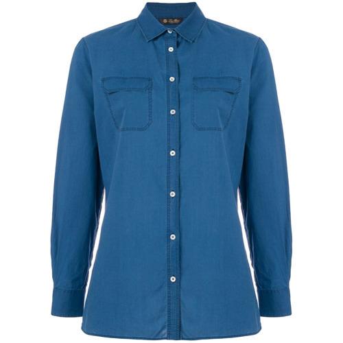Chemise en jean bleue Loro Piana