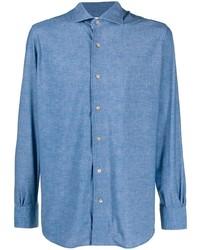 Chemise en jean bleue Mazzarelli