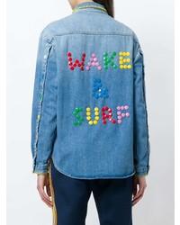 Chemise en jean bleue Mira Mikati