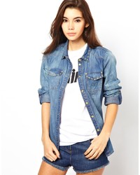 Chemise en jean bleue Only