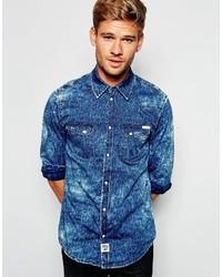Chemise en jean bleue Pepe Jeans
