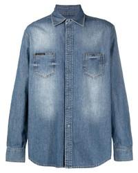 Chemise en jean bleue Philipp Plein