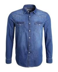 Chemise en jean bleue Pier One