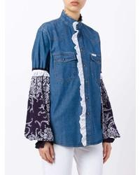 Chemise en jean bleue Forte Dei Marmi Couture