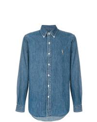 Chemise en jean bleue Ralph Lauren