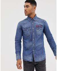 Chemise en jean bleue Replay