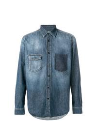 Chemise en jean bleue Saint Laurent