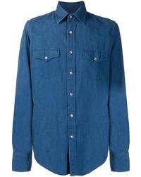 Chemise en jean bleue Tom Ford