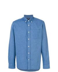 Chemise en jean bleue Woolrich