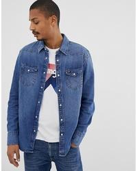 Chemise en jean bleue Wrangler