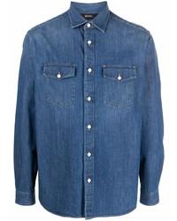 Chemise en jean bleue Z Zegna