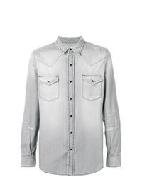 Chemise en jean grise Saint Laurent