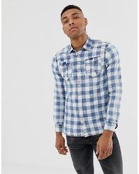 Chemise en jean imprimée bleu clair Chasin'