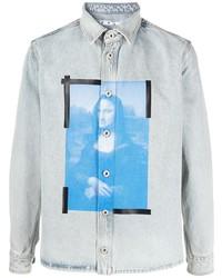 Chemise en jean imprimée bleu clair Off-White