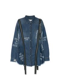 Chemise en jean imprimée bleu marine Faith Connexion