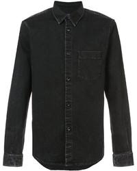 Chemise en jean noire A.P.C.