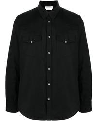 Chemise en jean noire Alexander McQueen