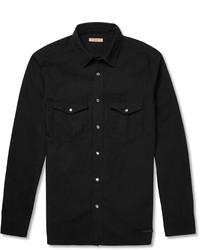 Chemise en jean noire Burberry