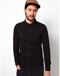 Chemise en jean noire