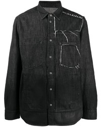 Chemise en jean noire Diesel