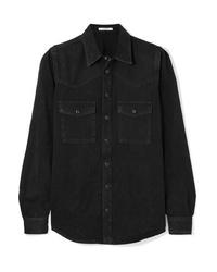 Chemise en jean noire Givenchy