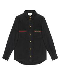 Chemise en jean noire Gucci