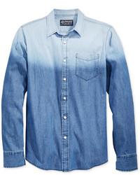 Chemise en jean ombre bleue