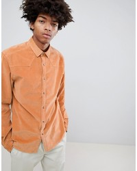 Chemise en jean orange ASOS DESIGN