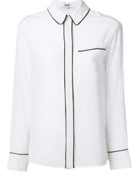 Chemise en soie blanche Kenzo
