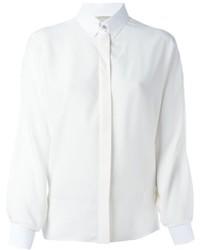 Chemise en soie blanche Lanvin