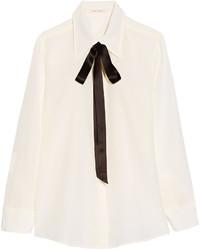 Chemise en soie blanche Marc Jacobs
