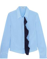 Chemise en soie bleue claire Prada