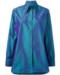 Chemise en soie bleue Christopher Kane